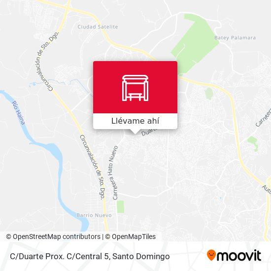 Mapa de C/Duarte Prox. C/Central 5