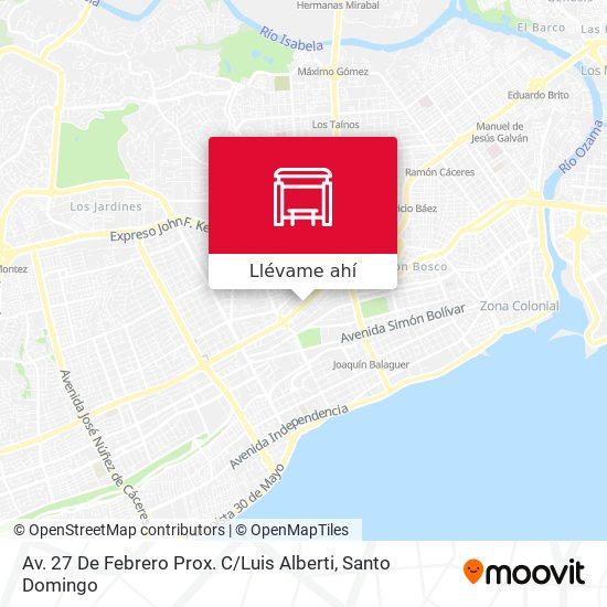 Mapa de Av. 27 De Febrero Prox. C / Luis Alberti