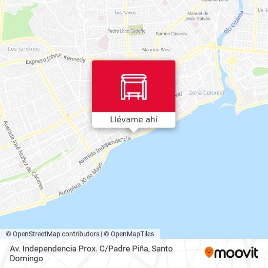 Mapa de Av. Independencia Prox. C / Padre Piña