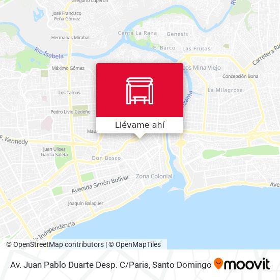 Mapa de Av. Juan Pablo Duarte Desp. C / Paris