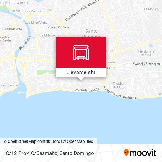 Mapa de C/12 Prox. C/Caamaño