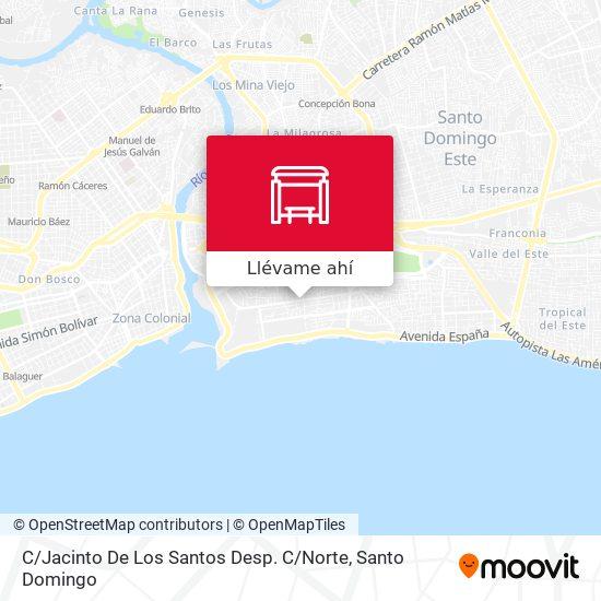 Mapa de C / Jacinto De Los Santos Desp. C / Norte