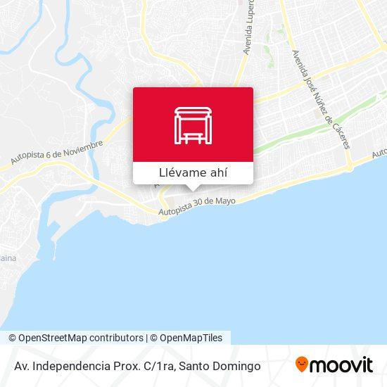 Mapa de Av. Independencia Prox. C/1ra