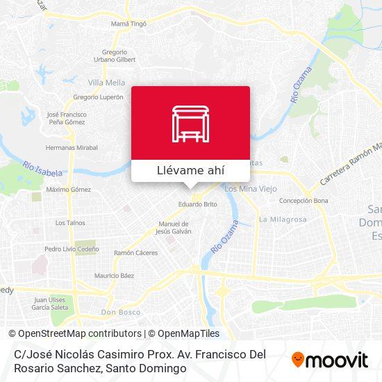 Mapa de C / José Nicolás Casimiro Prox. Av. Francisco Del Rosario Sanchez