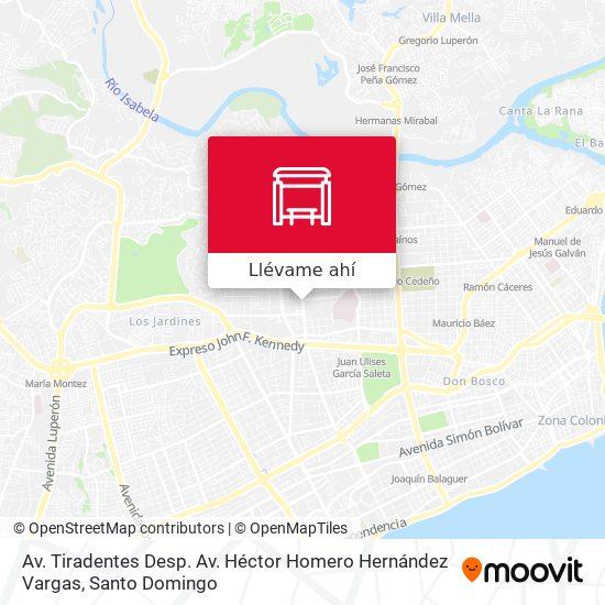 Mapa de Av. Tiradentes Desp. Av. Héctor Homero Hernández Vargas