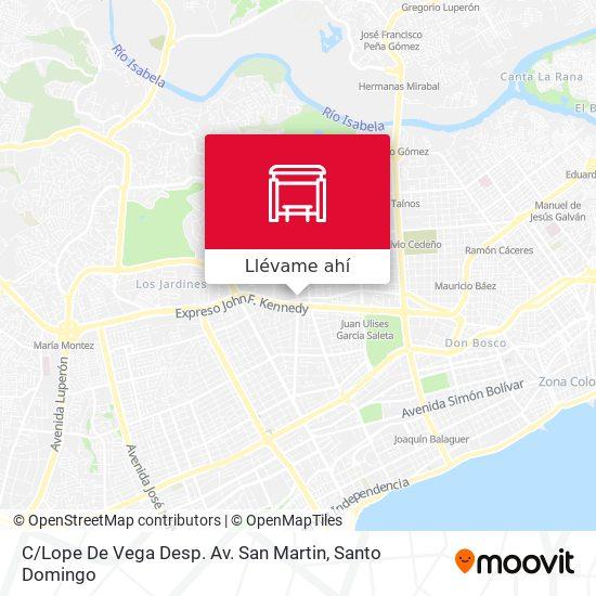 Mapa de C / Lope De Vega Desp. Av. San Martin