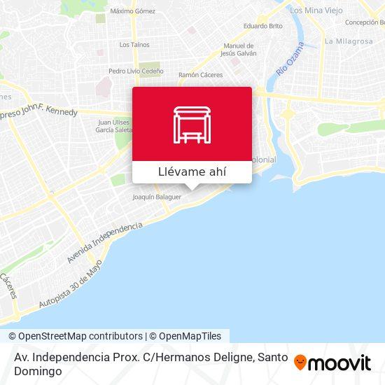 Mapa de Av. Independencia Prox. C / Hermanos Deligne