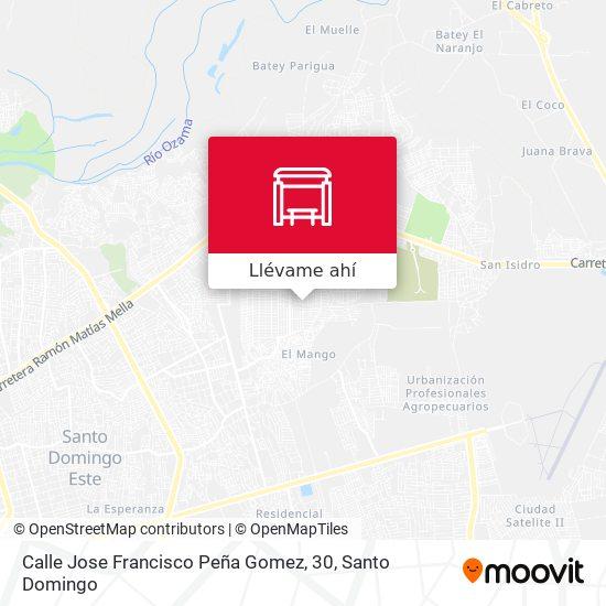 Mapa de Calle Jose Francisco Peña Gomez, 30