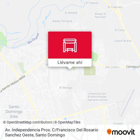 Mapa de Av. Independencia Prox. C / Francisco Del Rosario Sanchez Oeste
