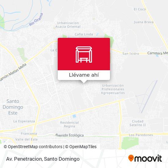 Mapa de Av. Penetracion