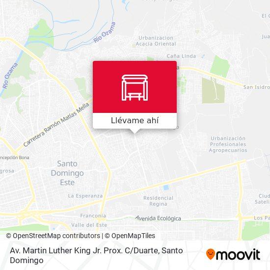 Mapa de Av. Martin Luther King Jr. Prox. C / Duarte