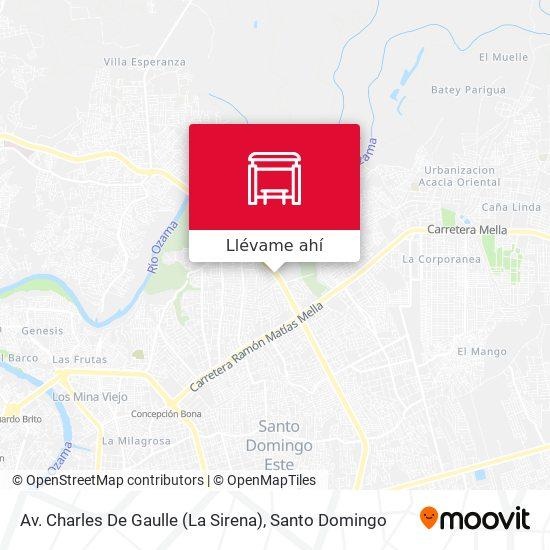 Mapa de Av. Charles De Gaulle (La Sirena)