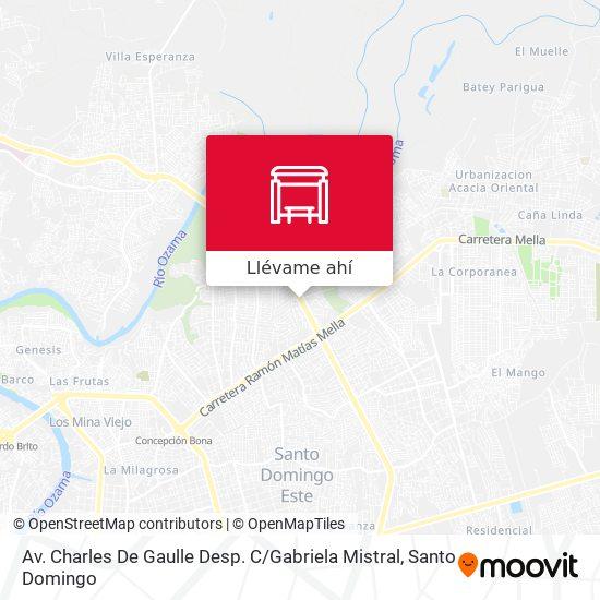 Mapa de Av. Charles De Gaulle Desp. C / Gabriela Mistral