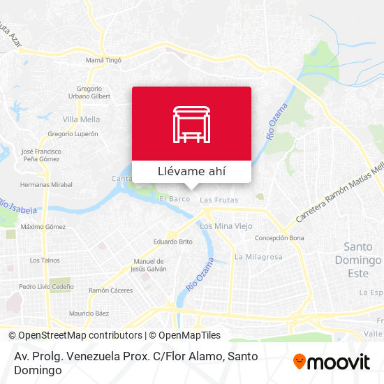 Mapa de Av. Prolg. Venezuela Prox. C / Flor Alamo