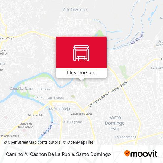 Mapa de Camino Al Cachon De La Rubia