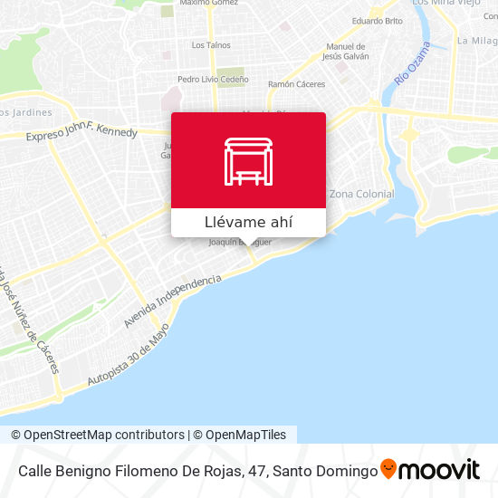 Mapa de Calle Benigno Filomeno De Rojas, 47