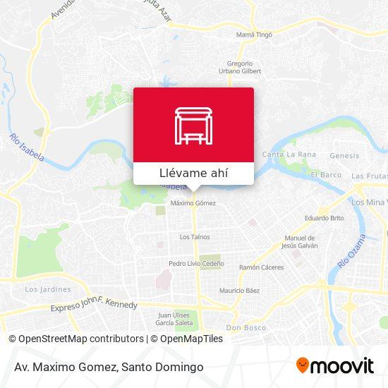 Mapa de Av. Maximo Gomez