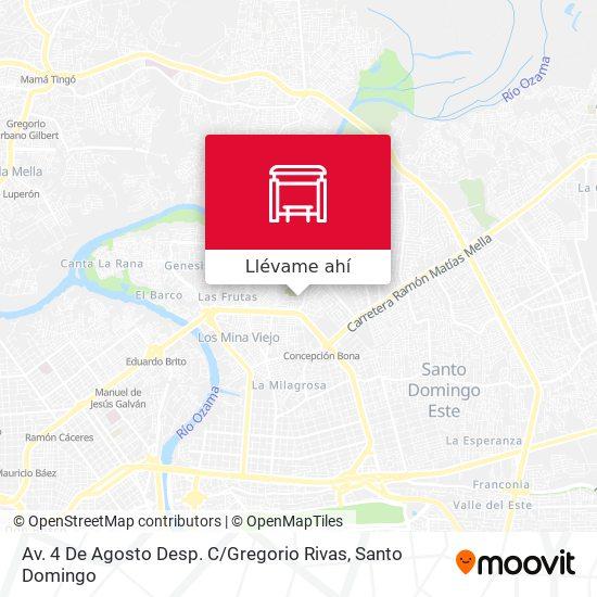Mapa de Av. 4 De Agosto Desp. C / Gregorio Rivas
