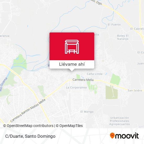 Mapa de C/Duarte