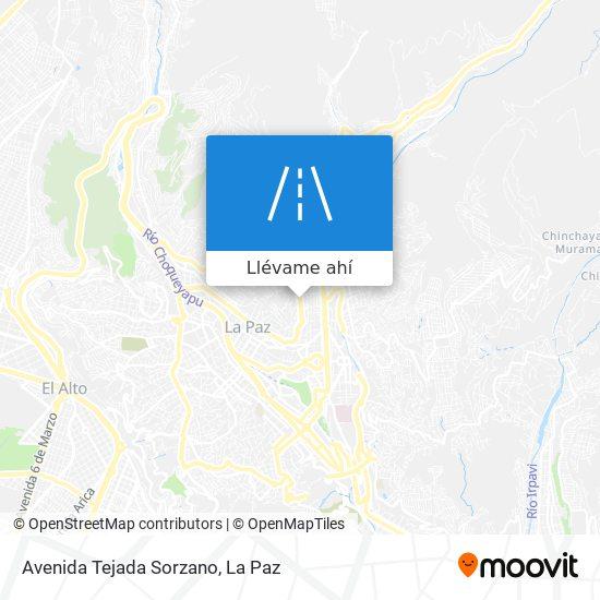 Mapa de Avenida Tejada Sorzano
