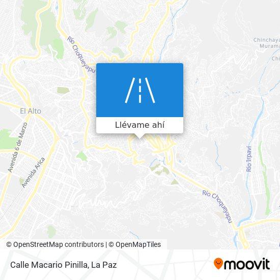 Mapa de Calle Macario Pinilla