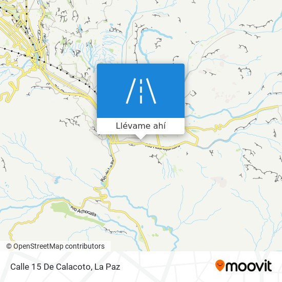 Mapa de Calle 15 De Calacoto