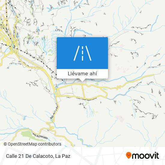 Mapa de Calle 21 De Calacoto