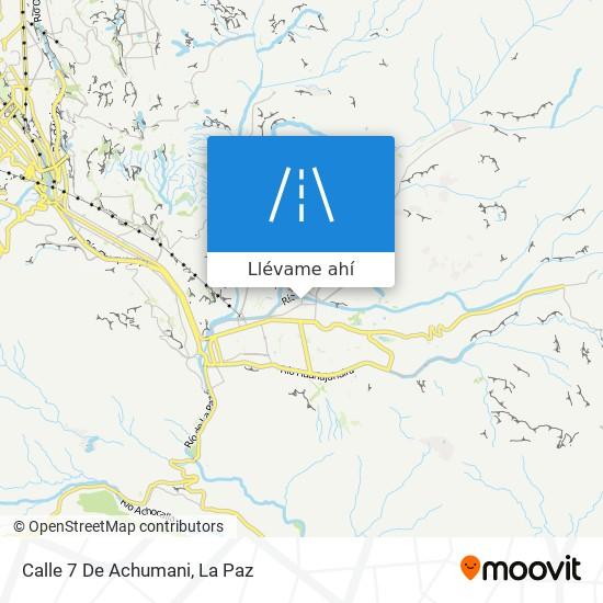 Mapa de Calle 7 De Achumani