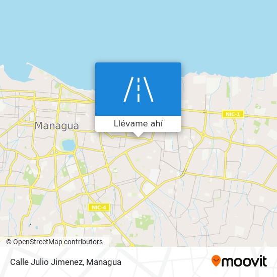 Mapa de Calle Julio Jimenez