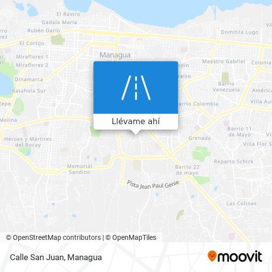 Mapa de Calle San Juan