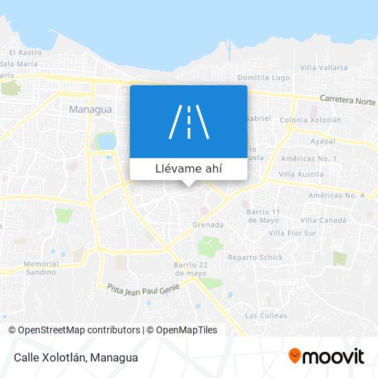 Mapa de Calle Xolotlán
