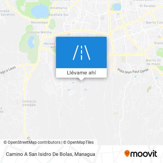 Mapa de Camino A San Isidro De Bolas