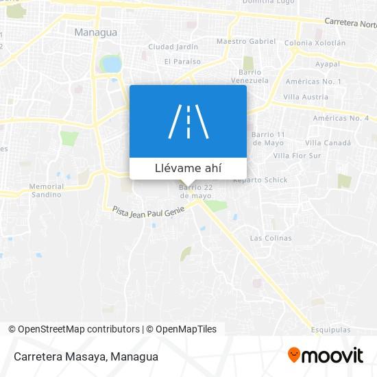 Mapa de Carretera Masaya