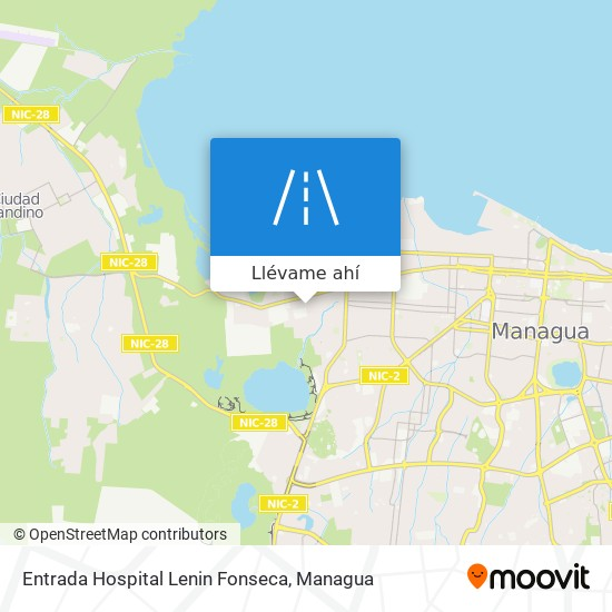 Mapa de Entrada Hospital Lenin Fonseca