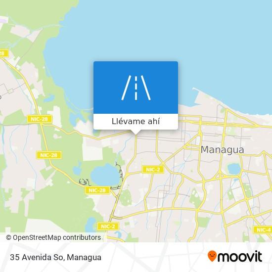 Mapa de 35 Avenida So