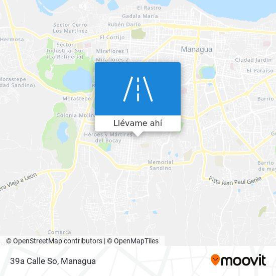 Mapa de 39a Calle So
