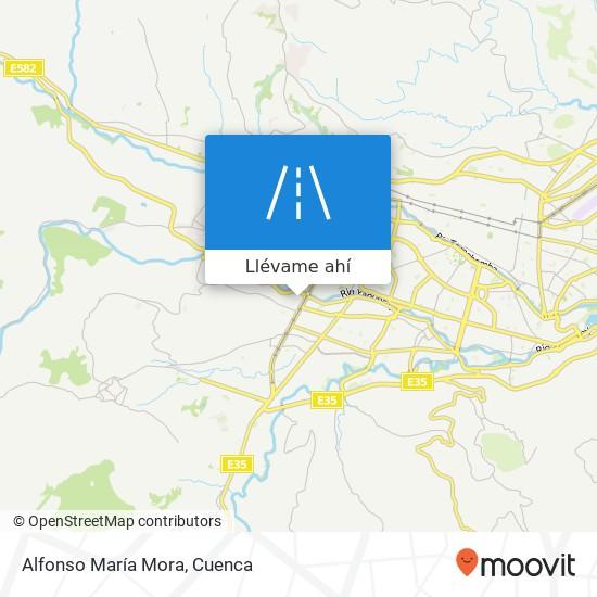 Mapa de Alfonso María Mora