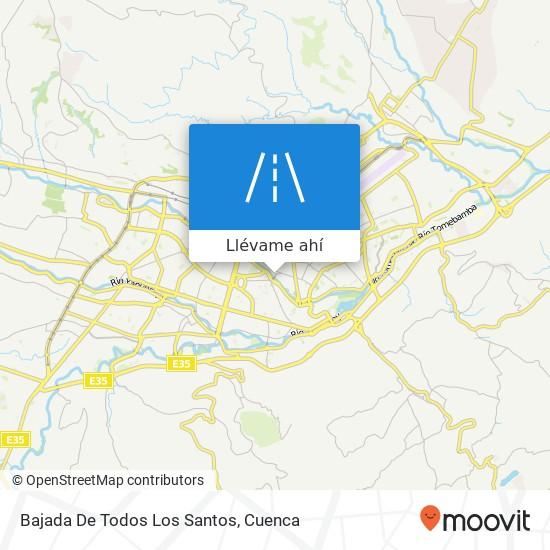 Mapa de Bajada De Todos Los Santos