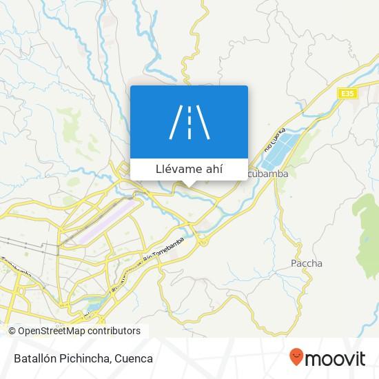 Mapa de Batallón Pichincha