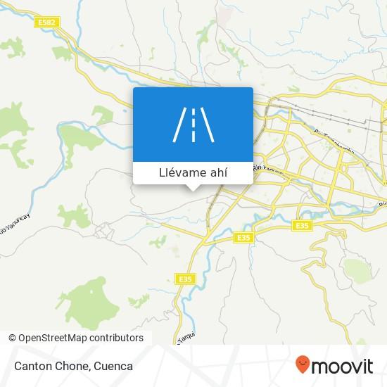 Mapa de Canton Chone