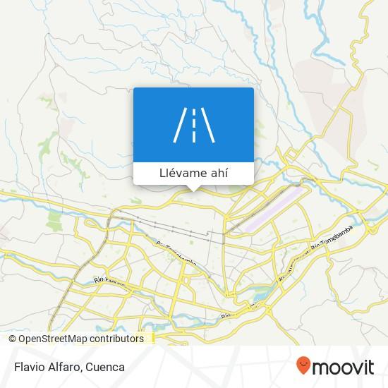 Mapa de Flavio Alfaro