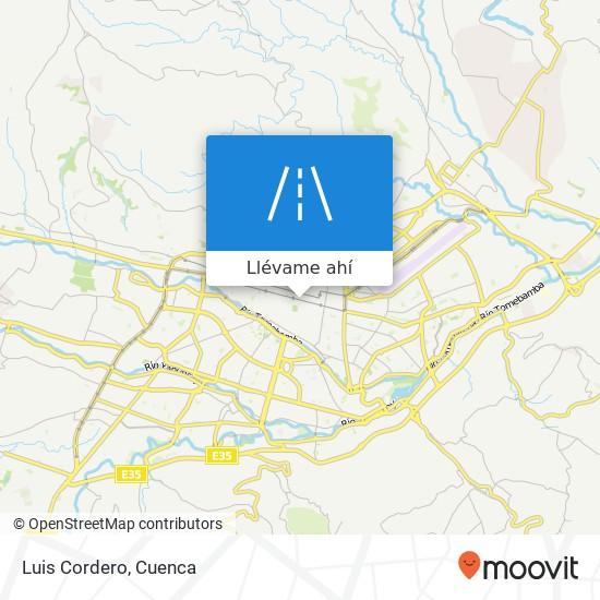 Mapa de Luis Cordero