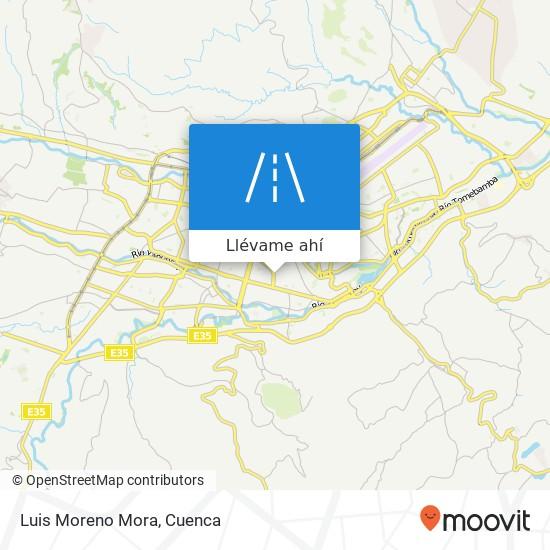 Mapa de Luis Moreno Mora
