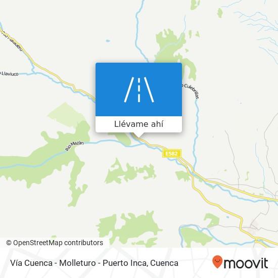 Mapa de Vía Cuenca - Molleturo - Puerto Inca