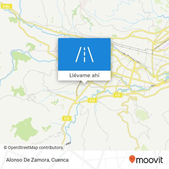 Mapa de Alonso De Zamora