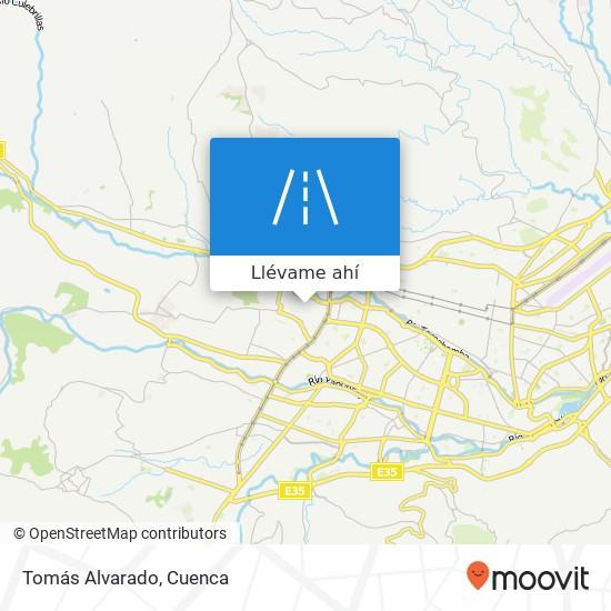 Mapa de Tomás Alvarado