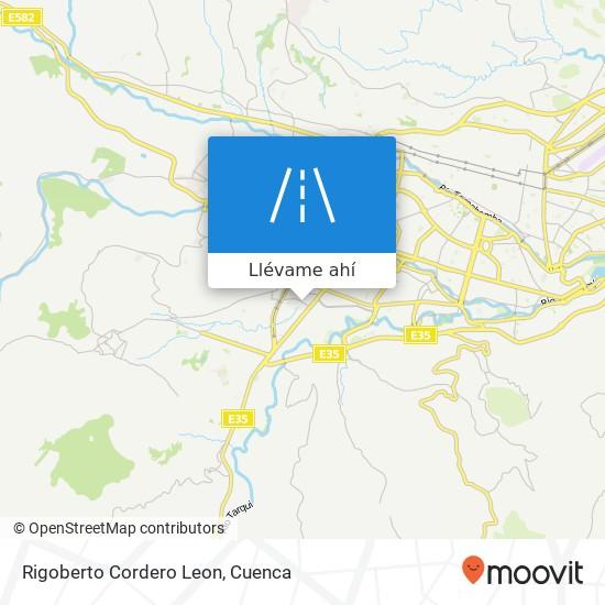 Mapa de Rigoberto Cordero Leon