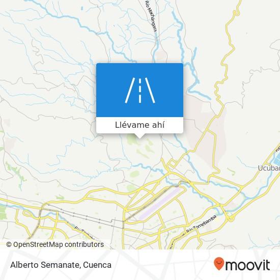 Mapa de Alberto Semanate
