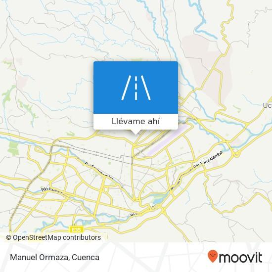 Mapa de Manuel Ormaza