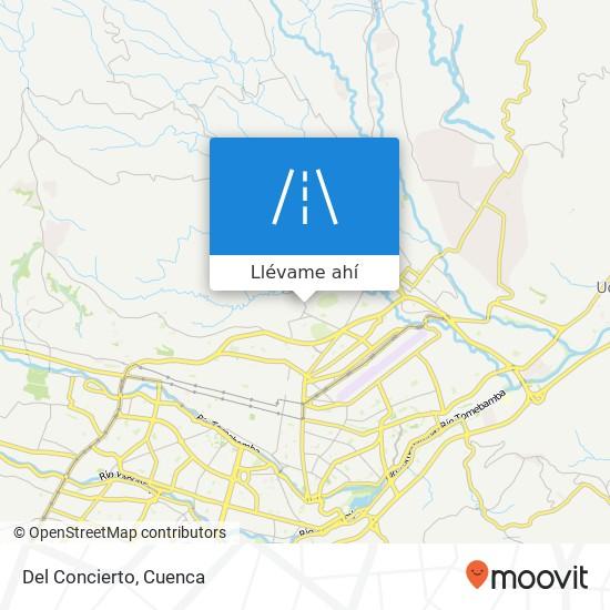 Mapa de Del Concierto